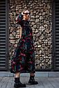 Сукня Тейлор чорне з листям Modna KAZKA, фото 3