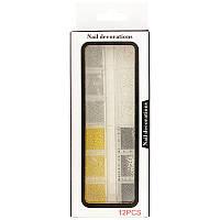 Металевий бульйон для манікюру 4 кольори 12 секцій у контейнері