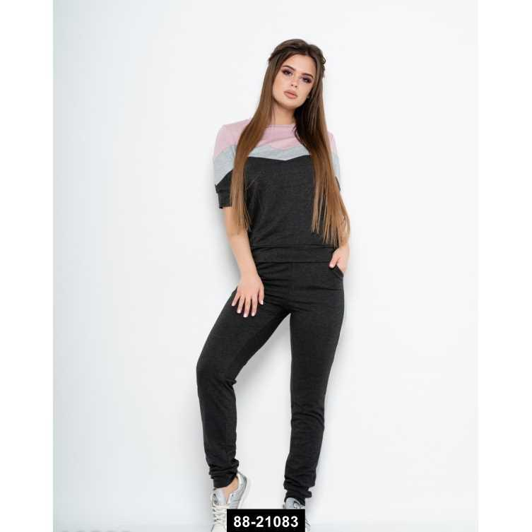 Спортивные костюмы  10590  M темно-серый, M-S размер международный, 88-21083