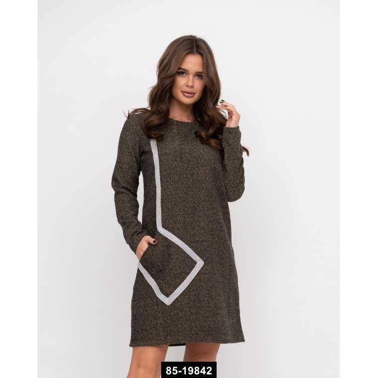 Платья  11215  L коричневый, L-S размер международный, 85-19842