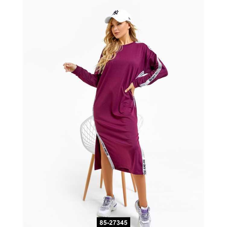 Платья  12195  M бордовый, M размер международный, 85-27345