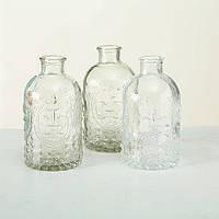 Набор 3х ваз прозрачное стекло h12см Гранд Презент 4019400