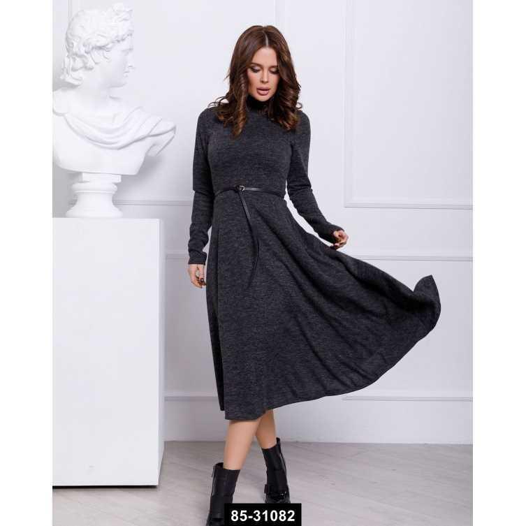 Платья  12352  M темно-серый, L-S размер международный, 85-31082