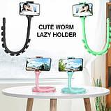 Гибкий держатель для телефона Cute Worm Lazy Holder, фото 2