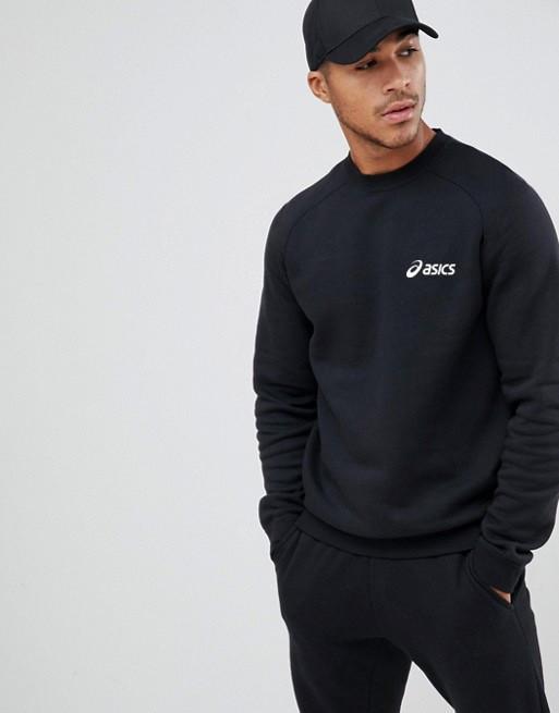 Мужская спортивная кофта свитшот, толстовка Asics (Асикс) черная
