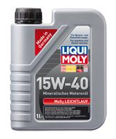 Моторное масло минеральное LIQUI MOLY 15W-40 1L MoS2 Leichtlauf Super Motoroil с молибденом