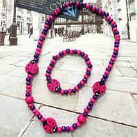 """Детский набор """"Малинка"""" розово - фиолетового цвета."""