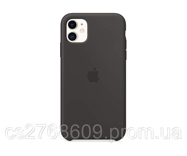 "Чехол силікон ""Silicone Case Original"" iPhone 11, 6.1"" чорний (укр пост)"