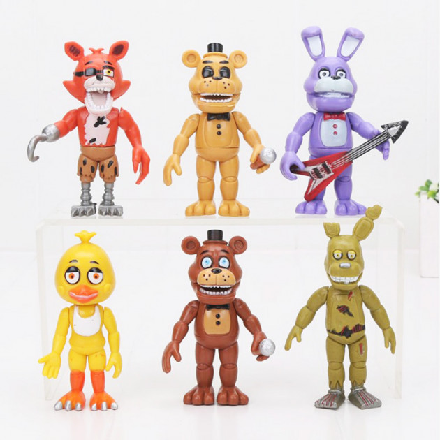 Игровой набор Five Nights at freddy's  6 героев 5 ночей з Фредди (Аниматроники Фнаф)