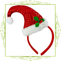 Колпачок новогодний на обруче