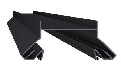 Профіль алюмінієвий для натяжних стель - LumFer N01-BK/BK, чорний, для чорних ніш. Довжина профілю 2 м.