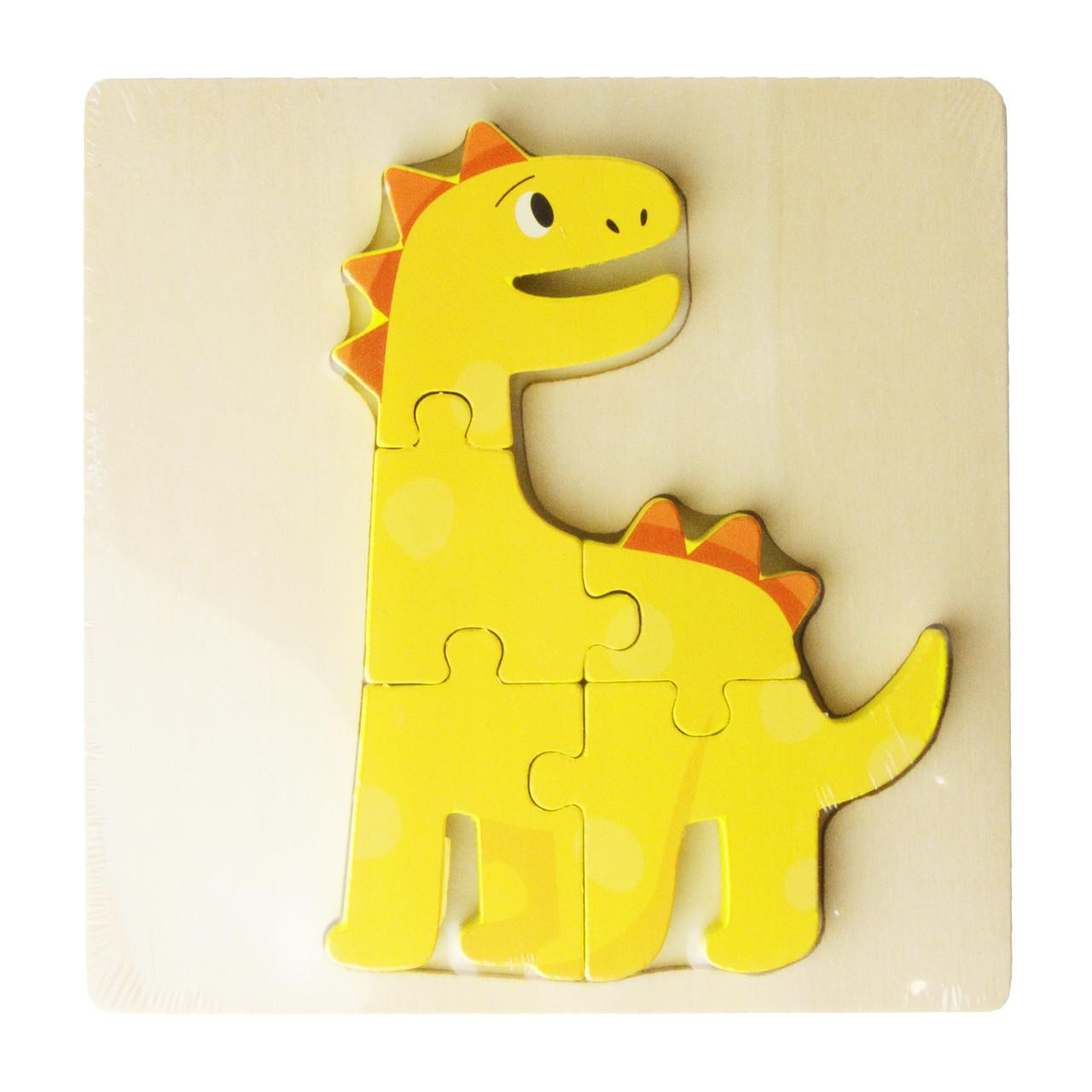 Деревянная игрушка Пазлы MD 2598-3 (Динозавр) 15-15см