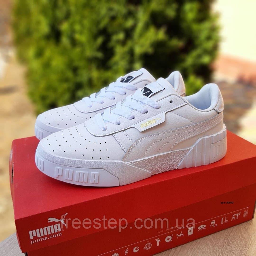 Женские кроссовки в стиле Puma Cali белые