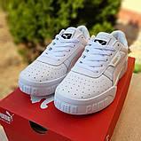 Женские кроссовки в стиле Puma Cali белые, фото 3