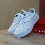 Женские кроссовки в стиле Puma Cali белые, фото 4