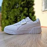 Женские кроссовки в стиле Puma Cali белые, фото 6