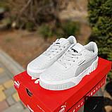 Женские кроссовки в стиле Puma Cali белые, фото 8
