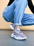 🔥 Кросівки жіночі Adidas Ozweego адідас озвиго бузкові повсякденні спортивні легкі, фото 6