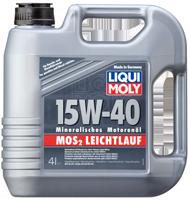 Моторное масло минеральное LIQUI MOLY 15W-40 4L MoS2 Leichtlauf Super Motoroil с молибденом