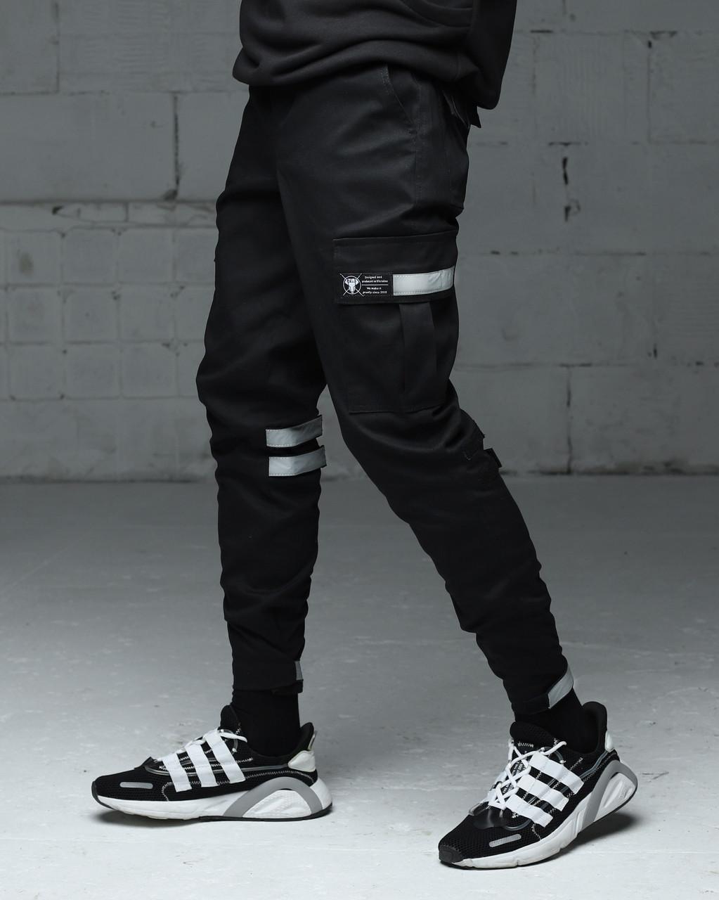 Зимние мужские брюки Карго Райот с рефлективными вставками