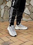 🔥 Кроссовки мужские Adidas Yeezy Boost 700 адидас изи буст 700 серые светлые повседневные спортивные легкие, фото 6