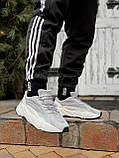 🔥 Кроссовки мужские Adidas Yeezy Boost 700 адидас изи буст 700 серые светлые повседневные спортивные легкие, фото 8