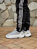 🔥 Кроссовки мужские Adidas Yeezy Boost 700 адидас изи буст 700 серые светлые повседневные спортивные легкие, фото 10