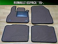 ЕВА коврики на Renault Espace '15-. Ковры EVA Рено Эспейс, фото 1