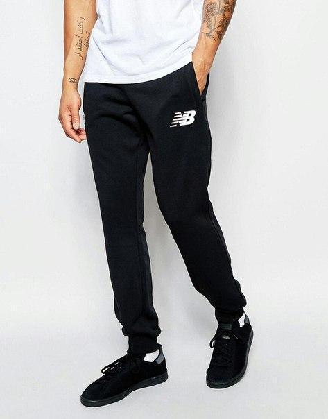 Мужские спортивные штаны New Balance (Нью Беленс) черные