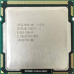 Процессор Intel Core i3-550, 2 ядра/4 потока