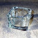 Квадратная восковая стеклянная чайная свеча 32г; натуральный пчелиный воск, фото 6