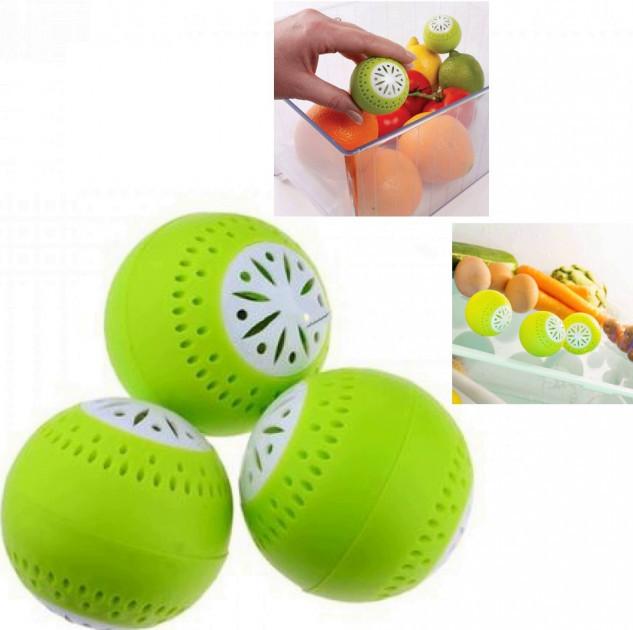 Поглинач для усунення запаху в холодильник анти запах у формі кульки набір 3 шт (NJ-194)