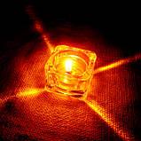 Квадратная восковая стеклянная чайная свеча 32г; натуральный пчелиный воск, фото 10