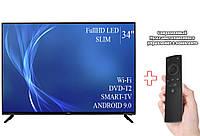 "Телевизор Bravis 34"" Smart-TV/Full HD/DVB-T2/USB Android 9.0 + пульт Д/У"