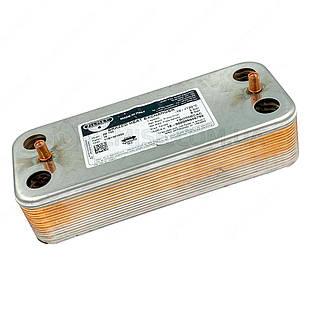 Теплообмінник ГВП Zilmet 17B1901600 16 пластин Ariston Uno, Beretta, Elexia, Fondital, Viessmann, Ferroli та ін
