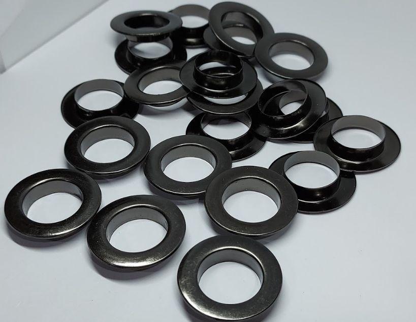 Нержавіючий люверс 15 мм темний нікель (100 шт.уп.)