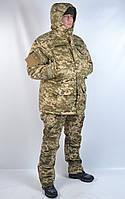 Теплый камуфляжный водонепроницаемый военный костюм Пиксель - зима (Польша)
