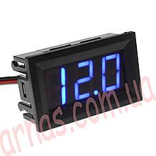 Вольтметр 27014B цифровой 4,5-30V встраиваемый (два провода) Синий