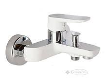 Смеситель для ванны и душа Venezia Kapadokya хром, белый (5010901-07)