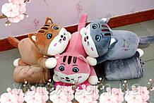 Плед іграшка котик і подушка 3в1 оптом