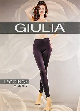 Бесшовные леггинсы из микрофибры с широким поясом LEGGINGS ТМ Giulia model 02 размер L/XL, фото 2