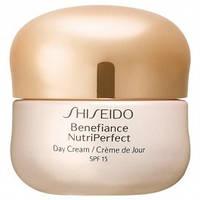 Shiseido Крем для лица защитный, дневной для зрелой кожи Benefiance NutriPerfect SPF 15 50ml