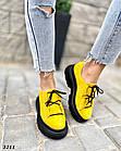 Женские желтые кроссовки, натуральная замша, фото 2