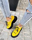 Женские желтые кроссовки, натуральная замша, фото 3
