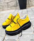 Женские желтые кроссовки, натуральная замша, фото 6