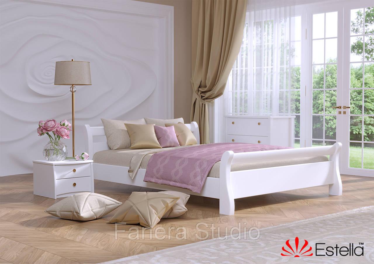 Ліжко двоспальна Діана з букового щита