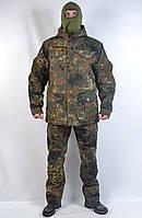 Теплый камуфляжный водонепроницаемый военный костюм Бундес - зима (Польша)