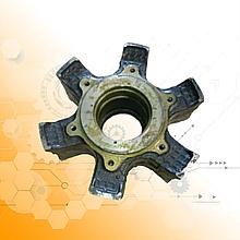 Ступица заднего колеса КрАЗ  6504-3104015, 257- 3104015-01 под клинья