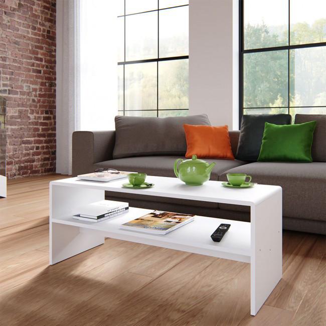 Журнальный столик с полкой, кофейный стол G0080