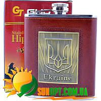 Фляга из нержавеющей стали обтянута кожей Украина TP-20